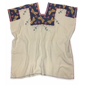 Boho Vintage Embroidered Handmade Tunic Top